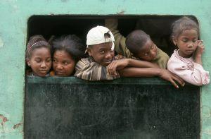 children in Manakara station