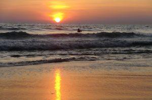 Sunset Varkala beach, Kerala
