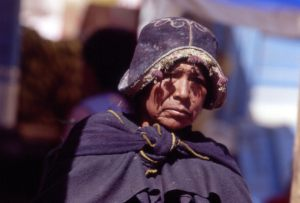 La Paz market, local woman