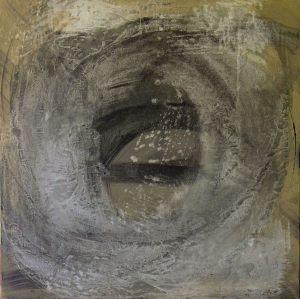 Follow-me 70x70 cm acrylic on canvas