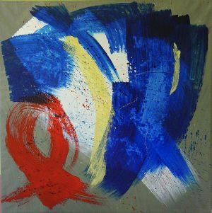 seven-teen 70x70 acrylic on canvas