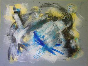 Untitled 90x100 cm acrylic on canvas